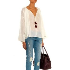 Mes Demoiselles Lina Embroidered Top